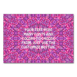 Pink n Purple Kaleidoscope Table Card