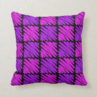 Pink-n-Purple Squiggles Throw Pillow