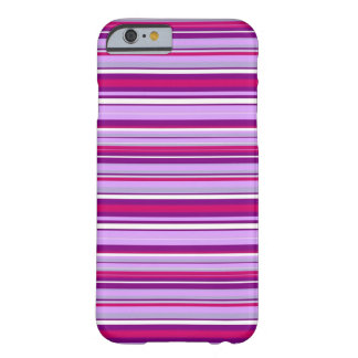 Pink 'n' purple stripey barely there iPhone 6 case