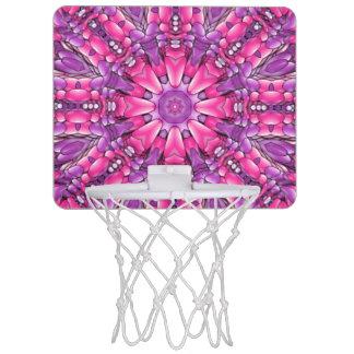 Pink n Purple Vintage Kaleidoscope Basketball Hoop