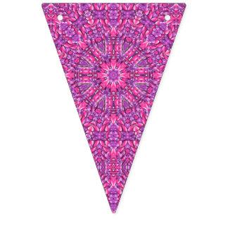 Pink n Purple Vintage Kaleidoscope  Bunting Flags