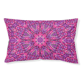 Pink n Purple Vintage Kaleidoscope Dog Bed