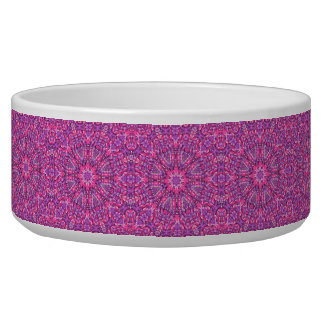 Pink n Purple Vintage   Kaleidoscope  Pet Dish