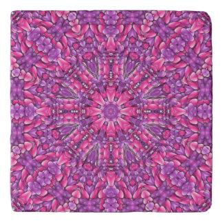Pink n Purple Vintage Kaleidoscope  Stone Trivet