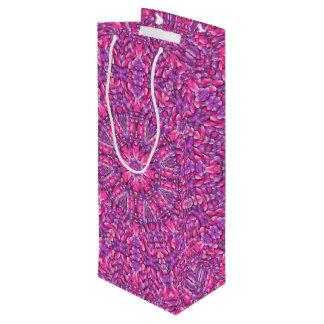 Pink n Purple Vintage Kaleidoscope  Wine Bags