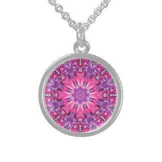 Pink n Purple  Vintage Sterling Silver    Necklace