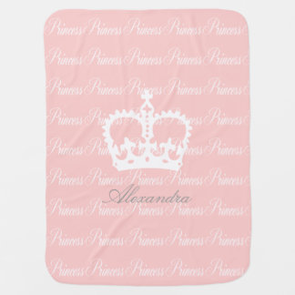 Pink-n-White Princess Baby Blanket