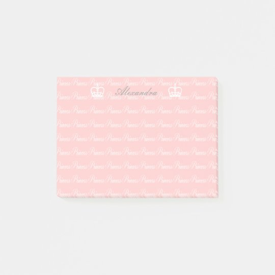 Pink-n-White Princess Custom Post-it Notes