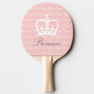 Pink-n-White Princess Ping Pong Paddle