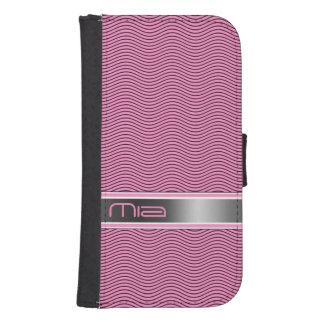 Pink Named Waves Samsung S4 Wallet Case
