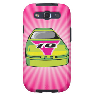 Pink Nascar Galaxy S3 Covers