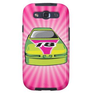 Pink Nascar Galaxy SIII Cases