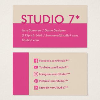 Pink - Natural Series Business Card