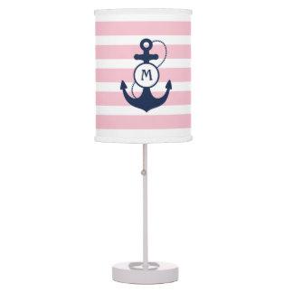 Pink Nautical Anchor Table Lamp