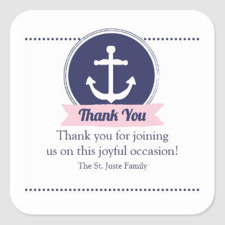 pink nautical BABY SHOWER party favor label