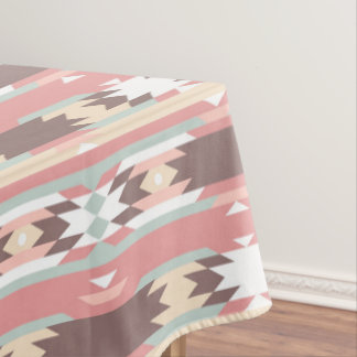 Pink Navajo Native American Pattern Tablecloth