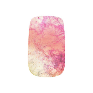 Pink Nebula Abstract Minx Nail Art