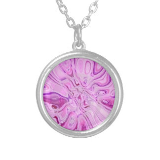 PINK NECKLESS SILVER PLATED NECKLACE