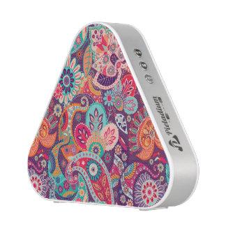 Pink neon Paisley floral pattern Blueooth Speaker