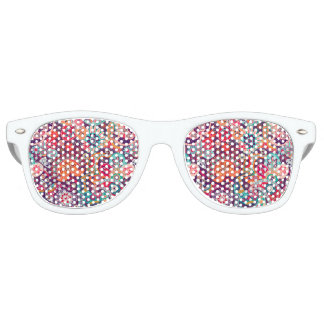 Pink neon Paisley floral pattern Retro Sunglasses