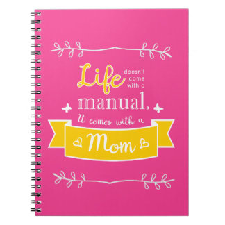 Pink Notebook for Mom with Quote