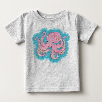 Pink Octopus Baby T-Shirt