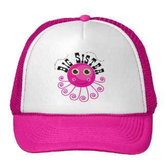 Pink Octopus Big Sister T-shirts and Gifts Trucker Hat
