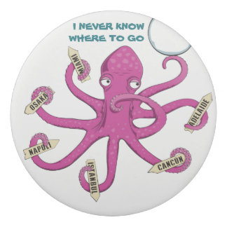 Pink octopus I never know where to go Eraser