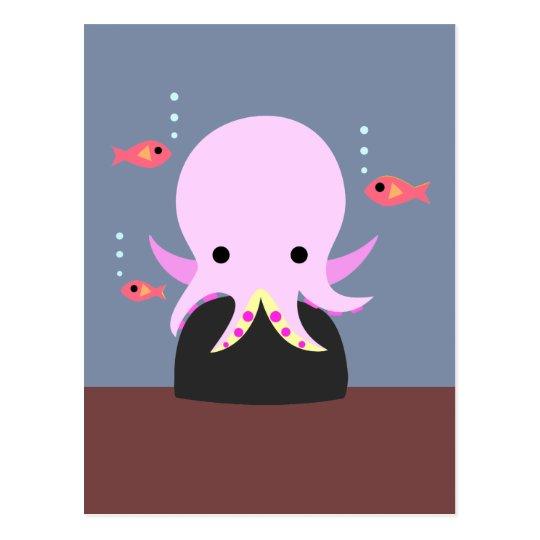 Pink Octopus Postcard