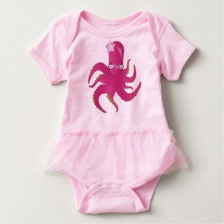 Pink octopus tutu baby bodysuit