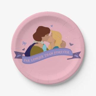 Pink Odette & Derek party plates (7 inch)