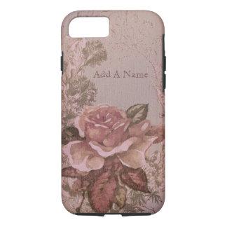 Pink Old English Rose iPhone 8/7 Case