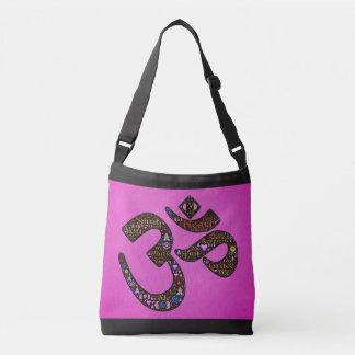 Pink Om Symbol Tote Bag