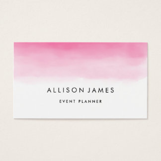 Pink Ombre Business Card