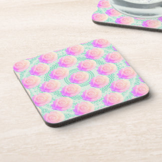 Pink Ombre Cake Rose Kawaii Mint Beaded Decoden Drink Coasters