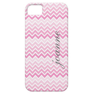 Pink Ombre Chevron Personalized I Phone 5 Case