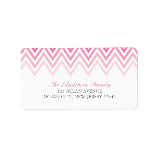 Pink Ombre Chevrons
