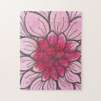 Pink Ombre Chrysamthemum 11x14 Photo Puzzle, Boxed Puzzles