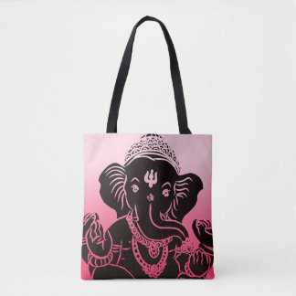 Pink Ombre Ganesh Bag / Tote