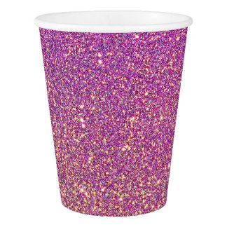Pink Ombre Glitter Background Paper Cup