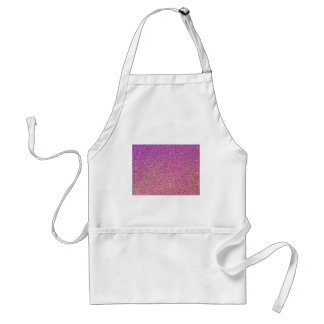 Pink Ombre Glitter Background Standard Apron