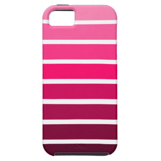 Pink Ombre Gradient Colorful Stripe iPhone 5 Cover