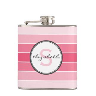 Pink Ombre Monogram Hip Flask