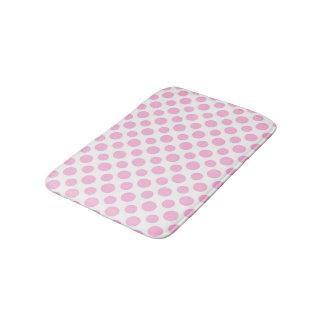 Pink Ombre Polka Dots Bath Mat