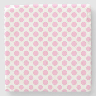 Pink Ombre Polka Dots Stone Coaster