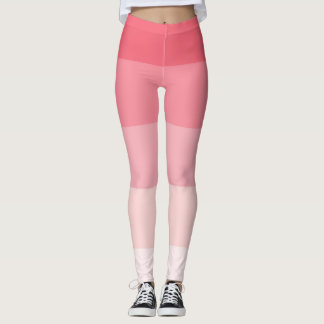 Pink Ombre Stripes Leggings