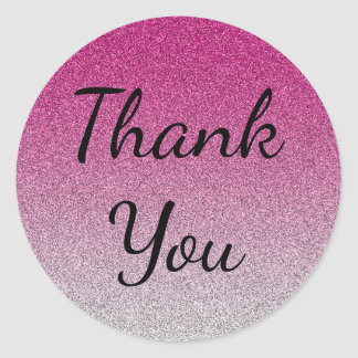 Pink Ombre Thank You Stickers Consultant Gift