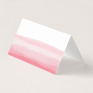 Pink Ombre Watercolor Blank Table Guest Place Card