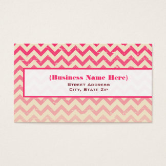 Pink Ombre Zigzag All Purpose Business Card