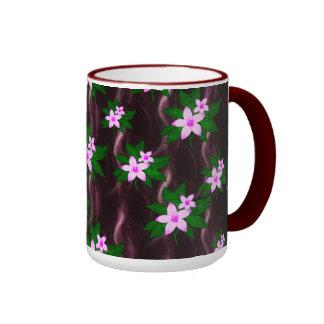 Pink On Dark Purple Coffee Mugs